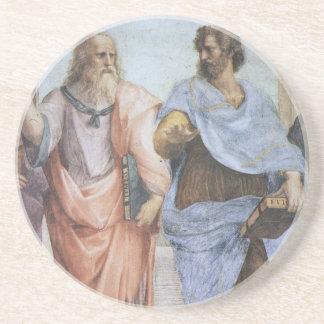 Escuela de Atenas (detalle - Platón y Aristóteles) Posavasos Diseño
