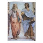 Escuela de Atenas (detalle - Platón y Aristóteles) Felicitación