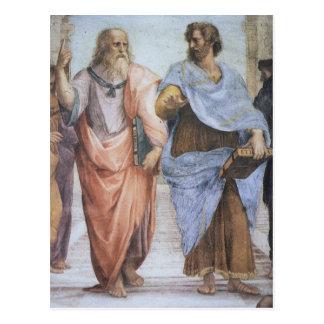 Escuela de Atenas (detalle - Platón y Aristóteles) Tarjetas Postales