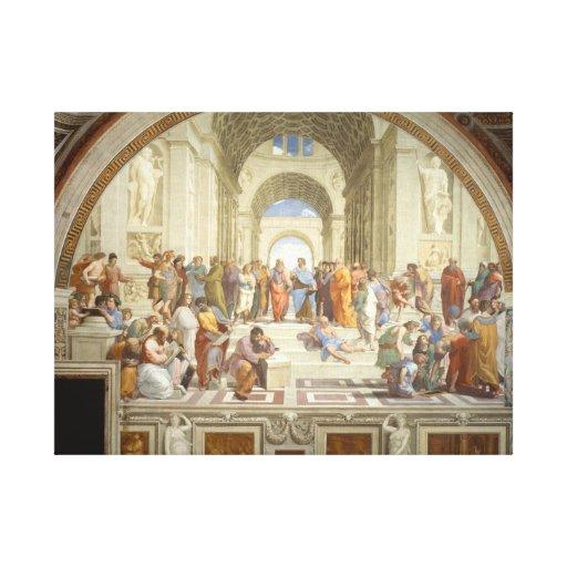 Escuela de Atenas Lienzo Envuelto Para Galerias