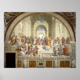 Escuela de Atenas Poster