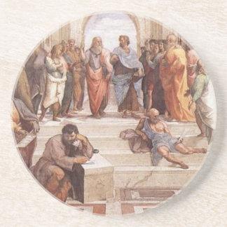 Escuela de Atenas Posavasos Diseño