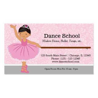 Escuela de danza tarjetas de visita