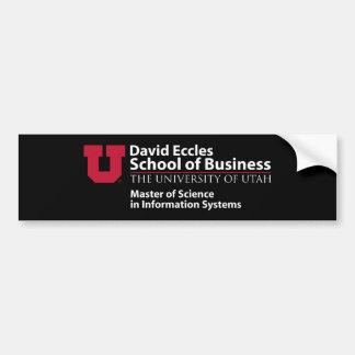 Escuela de David Eccles del negocio - MSIS Pegatina Para Auto