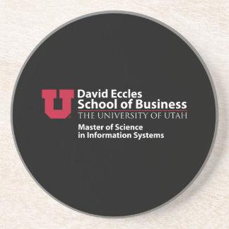 Escuela de David Eccles del negocio - MSIS Posavasos Para Bebidas