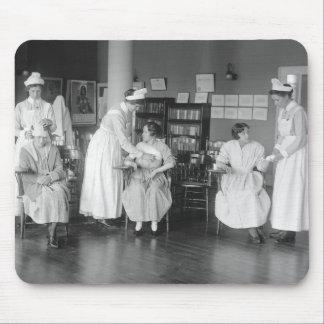 Escuela de enfermería 1900s tempranos tapetes de ratones