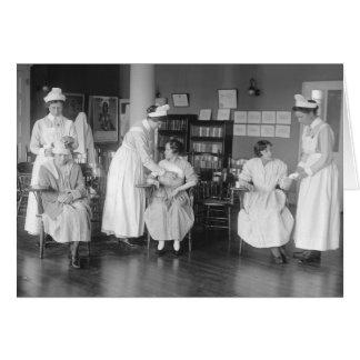 Escuela de enfermería, 1900s tempranos tarjeta de felicitación