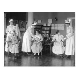 Escuela de enfermería 1900s tempranos tarjeta postal