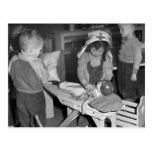 Escuela de enfermería: los años 40 postal