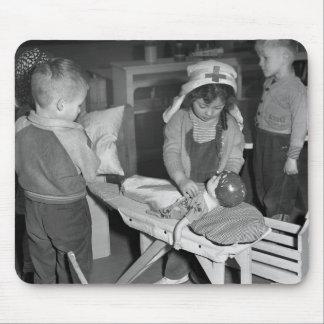 Escuela de enfermería los años 40 tapete de ratones