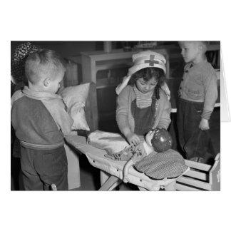 Escuela de enfermería: los años 40 tarjeta de felicitación
