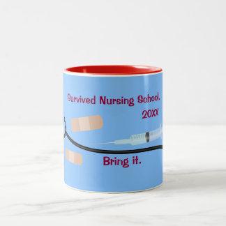 Escuela de enfermería sobrevivida tazas de café