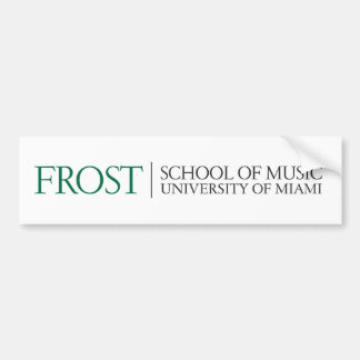 Escuela de Frost del logotipo 2 de la música Pegatina Para Auto