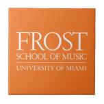 Escuela de Frost del logotipo de la música Azulejos