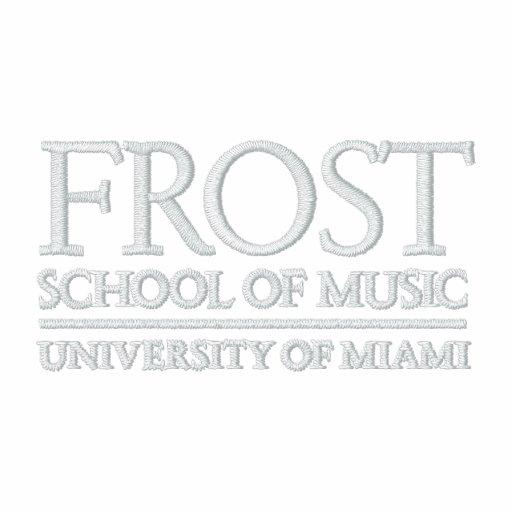 Escuela de Frost del logotipo de la música Camiseta Polo