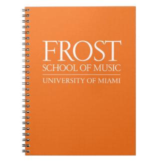 Escuela de Frost del logotipo de la música Libro De Apuntes Con Espiral