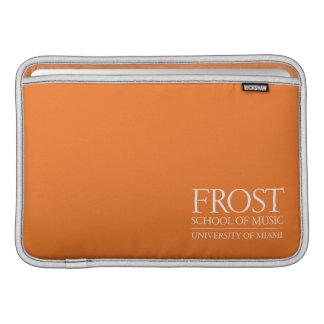 Escuela de Frost del logotipo de la música Funda Macbook Air