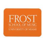 Escuela de Frost del logotipo de la música Imanes Rectangulares