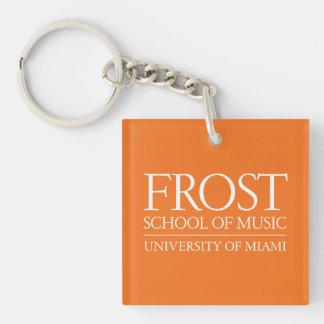 Escuela de Frost del logotipo de la música Llavero Cuadrado Acrílico A Doble Cara