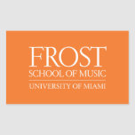 Escuela de Frost del logotipo de la música Rectangular Altavoces