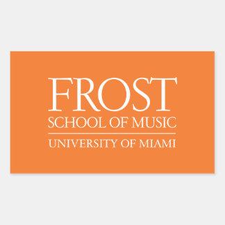 Escuela de Frost del logotipo de la música Pegatina Rectangular