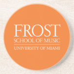 Escuela de Frost del logotipo de la música Posavasos Manualidades