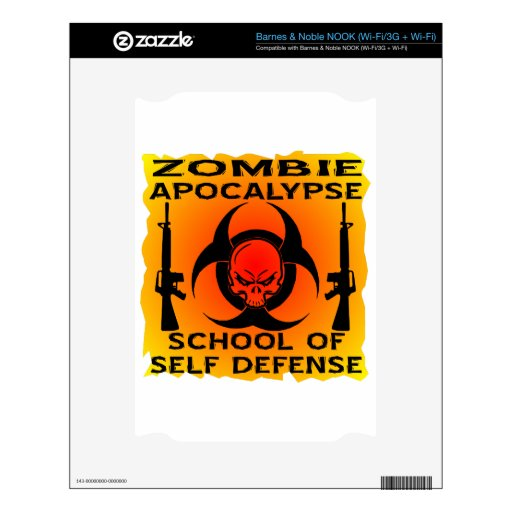 Escuela de la apocalipsis del zombi de la autodefe NOOK calcomanías