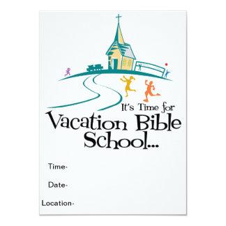 """Escuela de la biblia de las vacaciones invitación 4.5"""" x 6.25"""""""