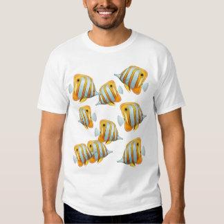 Escuela de la camiseta de los pescados de la remera