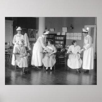 Escuela de la enfermera 1900s tempranos poster