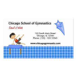 Escuela de la gimnasia (azul) tarjetas de visita
