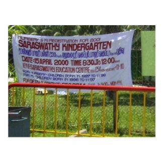 Escuela de la guardería del templo hindú postales