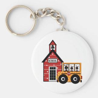 Escuela de la mariquita y camisetas y regalos del  llavero redondo tipo pin