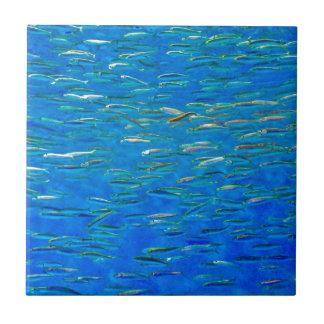 Escuela de la teja de los pescados