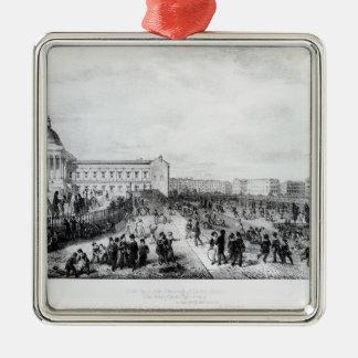 Escuela de la Universidad, Londres, 1835 Adorno Navideño Cuadrado De Metal