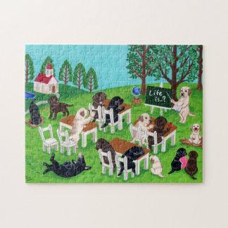 Escuela de Labrador Puzzle