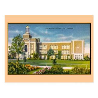 Escuela de Lew Wallace, vintage Gary ADENTRO Postal