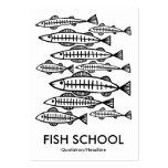 Escuela de los pescados - blanco tarjetas de visita grandes
