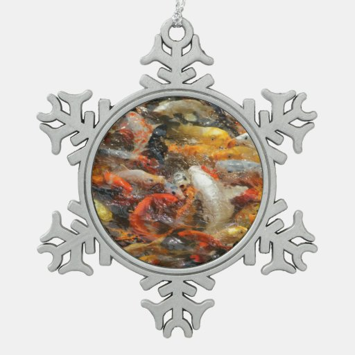 Escuela de los pescados de Koi Adorno