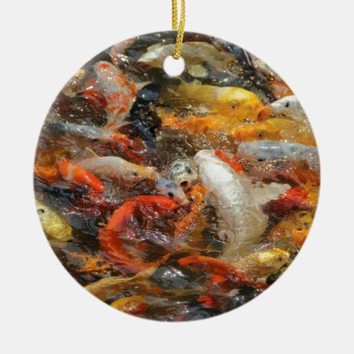 Escuela de los pescados de Koi Ornamento Para Reyes Magos