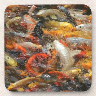 Escuela de los pescados de Koi Posavasos