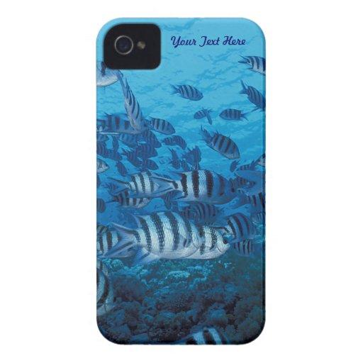 Escuela de los pescados rayados - casamata iPhone 4 Case-Mate carcasa