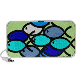 Escuela de los símbolos cristianos de los pescados iPhone altavoces