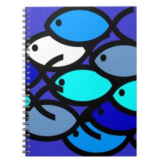 Escuela de los símbolos cristianos de los pescados cuaderno