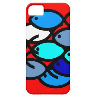 Escuela de los símbolos cristianos de los pescados iPhone 5 Case-Mate cárcasa