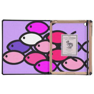 Escuela de los símbolos cristianos de los pescados iPad carcasas