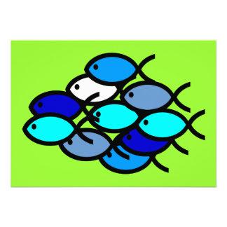 Escuela de los símbolos cristianos de los pescados comunicado personalizado