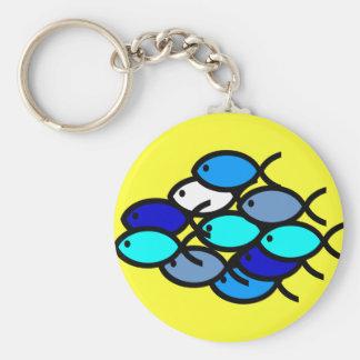 Escuela de los símbolos cristianos de los pescados llaveros personalizados