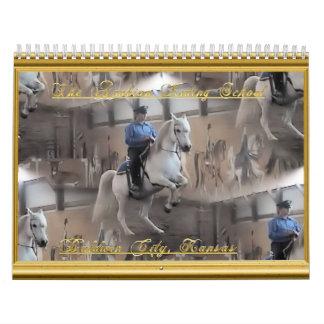 Escuela de montar a caballo árabe calendario