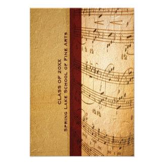 Escuela de música o graduación de la academia de l comunicado personal